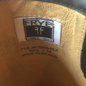 Frye Shoes - Frye Black Boots